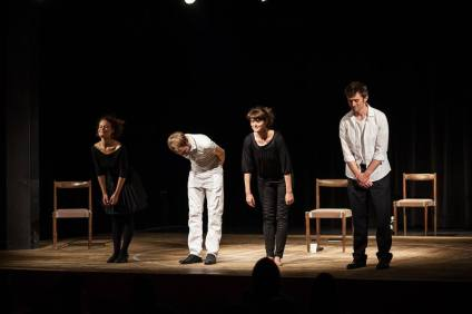 """Hedda"" performance at the Bridgin V4 festival in Pezinok, Slovakia, 2015 (photo credit - Linda Starodub)"